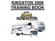 KINGSTON 2009 TRAINING BOOK - RVUSA.com