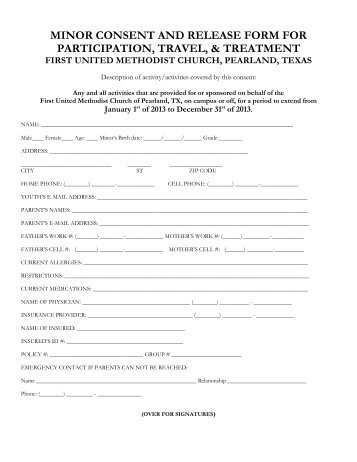 Waiver of liability form for united healthcare / Global ...