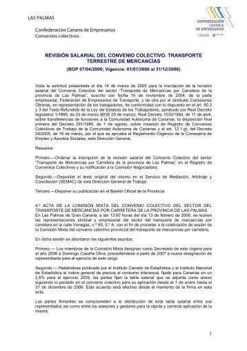 revisión salarial del convenio colectivo transporte terrestre de ...
