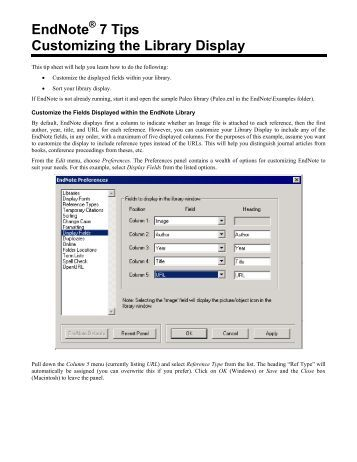 Features of EndNote X7
