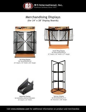 Merchandising Displays - MSI Stone