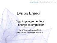 Lys og energi Bygningsreglementets energibestemmelser - Lysnet