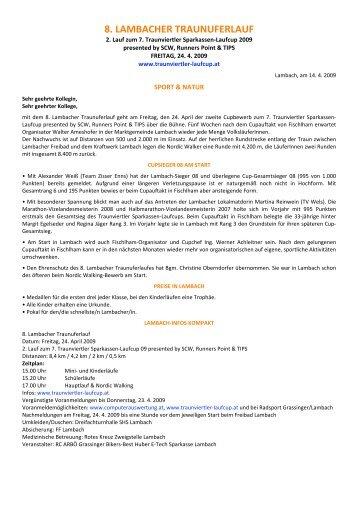 8. LAMBACHER TRAUNUFERLAUF - Up-to-date