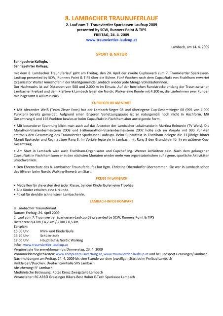 Veranstaltungen | Startseite Union Lambach/Edt | Seite 2