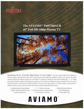 "The AVIAMO™ P65FT00AUB 65"" Full HD 1080p Plasma TV"