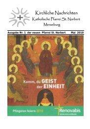 Ausgabe Nr. 1, Mai 2010 ( PDF -Datei, 321 kB) - Katholische Pfarrei ...