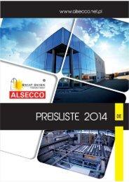 Preisliste PVC und ALU - Alsecco