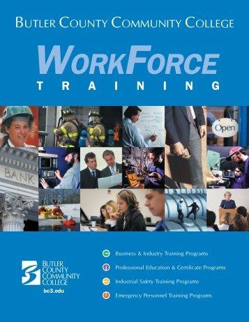 Workforce Training Brochure(pdf) - Butler County Community College