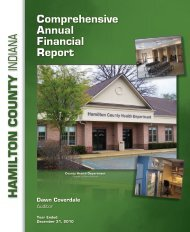 Comprehensive annual Financial Report - Hamilton County, Indiana