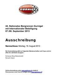 Ausschreibung (PDF, 13 Seiten) - Bergrennen Gurnigel