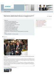 Atsisiųsti e-naujienas #17 - Siemens