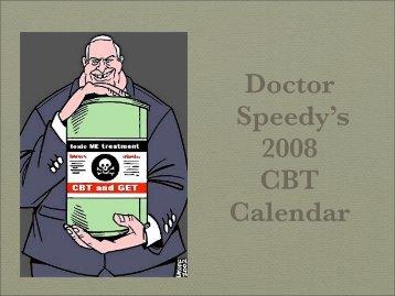 Doctor Speedy's 2008 CBT Calendar