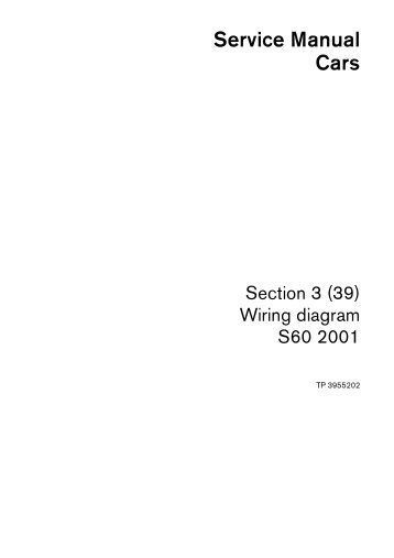 volvo s60 (2001) wiring diagrams