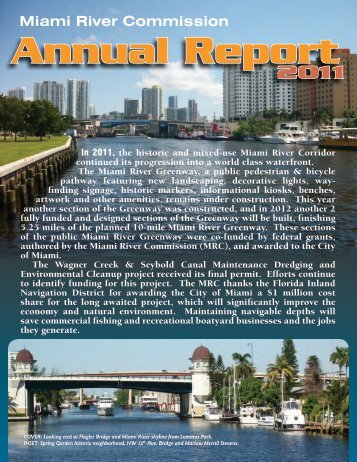 Miami River Commission Annual Report 2011
