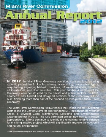 Miami River Commission Annual Report 2012