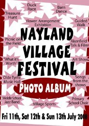 Village Festival - the Nayland and Wiston Community Website