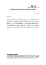 PAISAGENS EM MOVIMENTO: CINEMA E ESPAÇO URBANO ... - Iara