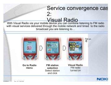 Service convergence cas 2: Visual Radio - Key4biz