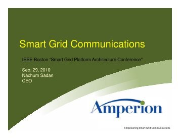 Download Amperion's presentation at the IEEE Smart Grid conference