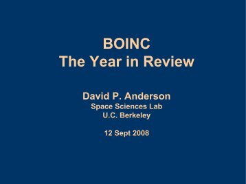 BOINC The Year in Review