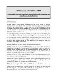 Reglement betreffende de coördinatie en de organisatie van de ...