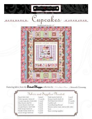Sweet Shoppe FREE Pattern from Studio E!!