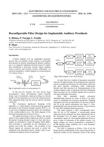 Reconfigurable Filter Design for Implantable Auditory Prosthesis