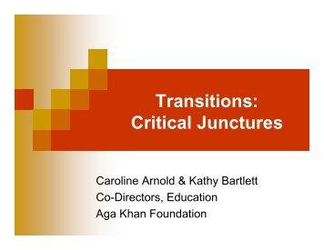Transitions: Critical Junctures - IIEP