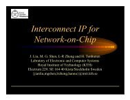 Interconnect IP for Network-on-Chip - SLIP