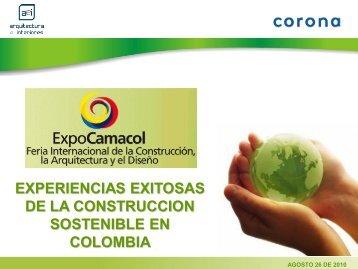 experiencias exitosas de la construccion sostenible ... - Expocamacol