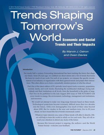 Trends Shaping Tomorrow's - World Future Society