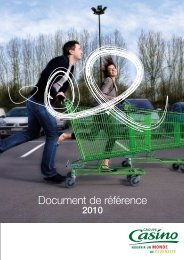 Document de référence 2010 (3.8 Mo) - Groupe Casino