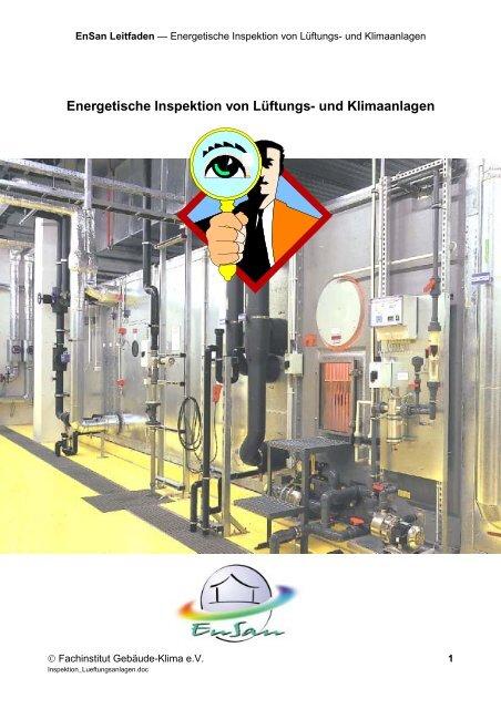 Energetische Inspektion von Lüftungs- und Klimaanlagen - EnSan