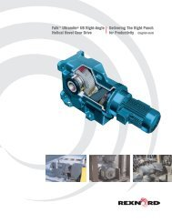 Falk™ Ultramite® UB Right-Angle Helical Bevel Gear Drive - Rexnord
