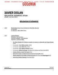 XAVIER DOLAN - Agence Goodwin