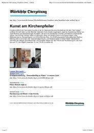Märkische Oderzeitung: Frankfurt (Oder) - Artikel - Galerie Zeisler