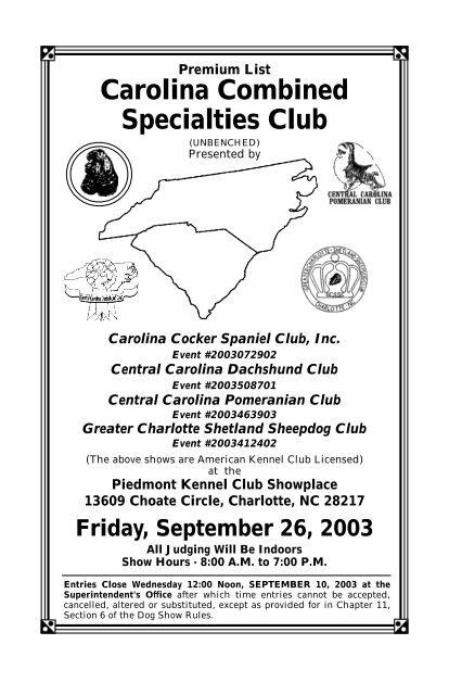 Carolina Combined Specialties Club