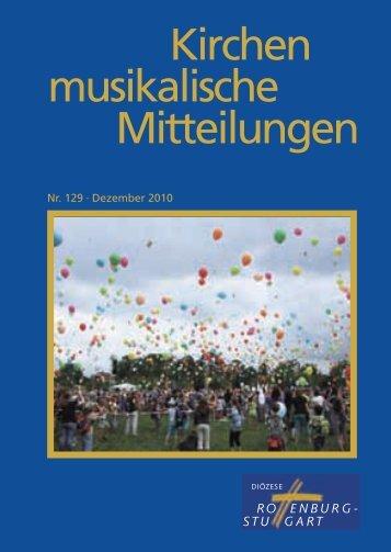 Kirchen musikalische Mitteilungen - Amt für Kirchenmusik