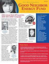 The Massachusetts Good Neighbor Energy Fund - National Grid