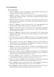 Complete list of publications (to 2013) - Plant Nutrition Group