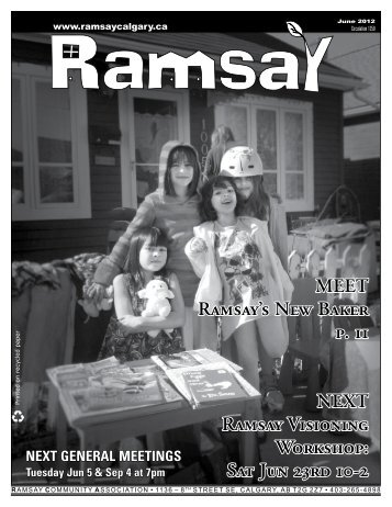 June newsletter - Ramsay Community Association in Calgary