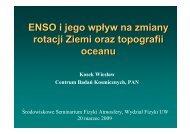 ENSO i jego wpływ na zmiany rotacji Ziemi oraz topografii oceanu