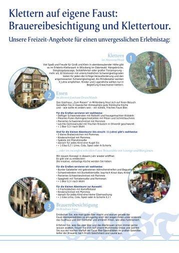 AbenteuerWald - FAUST Bräustüble, Lounge, Biergarten, Miltenberg
