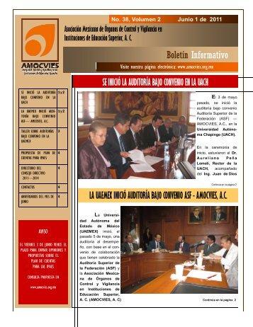 Boletin Informativo 38, volumen 2 - Amocvies