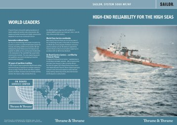 HIGH-END RELIABILITY FOR THE HIGH SEAS WORLD LEADERS