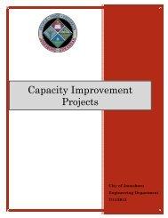 Capacity Improvements Projects (.pdf) - City of Jonesboro