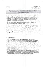Rücktritt/Versäumnis Prüfungstermine - Hochschule Aalen