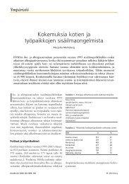 Kokemuksia kotien ja työpaikkojen sisäilmaongelmista - Duodecim