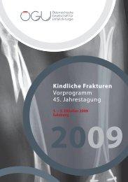 Vorprogramm - Österreichische Gesellschaft für Unfallchirurgie