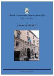 Carta dei servizi – TAR Puglia – Sez. di Lecce - Consiglio di Stato